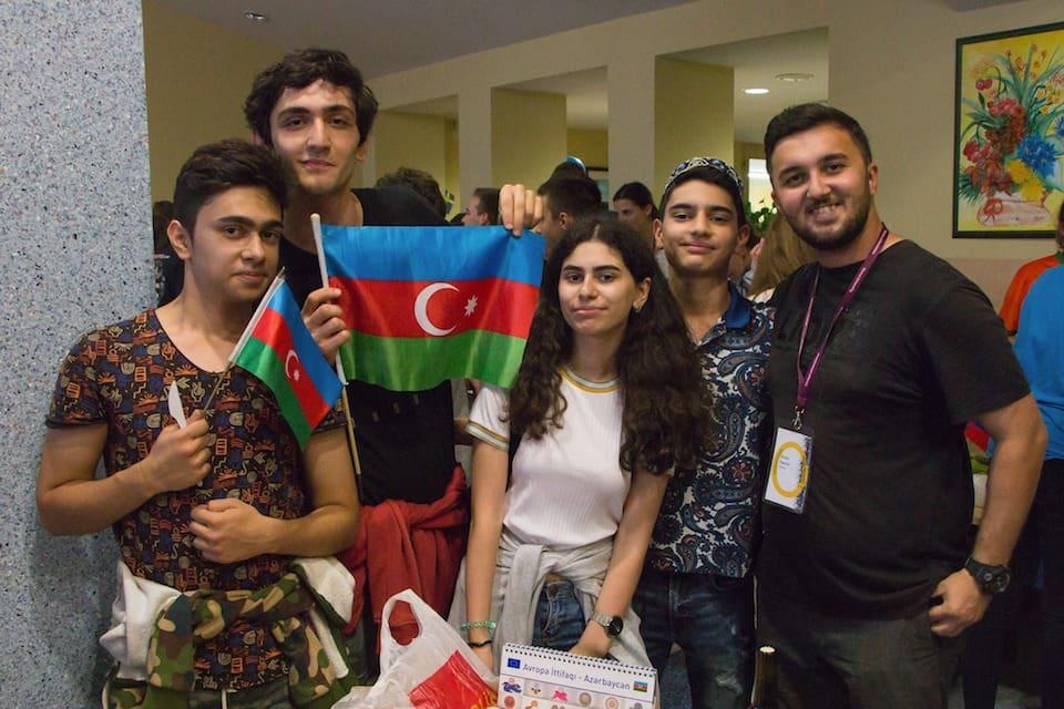 Delegation from EYP Azerbaijan at Vilnius 2018